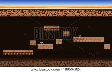 Collection stock game background ground style vector art