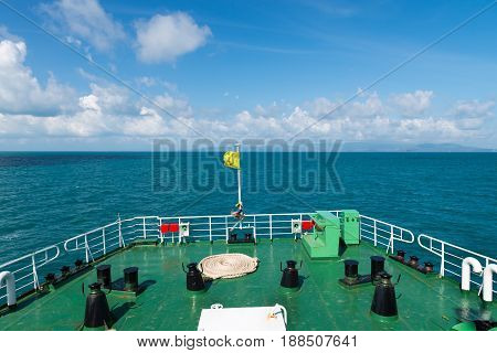 Empty Deck Of A Big Sea Ferry