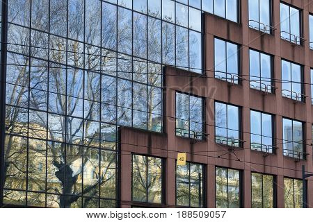 Milan (Lombardy Italy): modern office building along Corso Sempione exterior