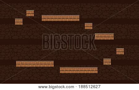 Collection stock brown wall game background vector art