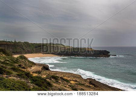 Ericeira Portugal. 15 May 2017.View of Coxos in late afternoon.Coxos beach its about 25 km of Ericeira Village. Ericeira Portugal. photography by Ricardo Rocha.