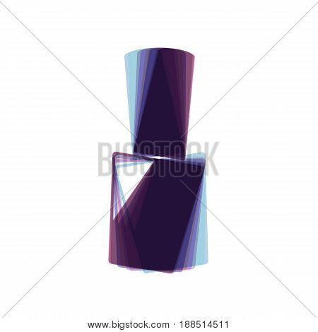 Nail polish sign. Vector. Colorful icon shaked with vertical axis at white background. Isolated.