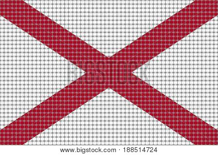 Mosaic flag of the state of Alabama