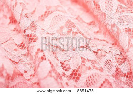 Texture of pink lace. Delicate gypery. A good background on topics related to fabrics linen needlework etc.