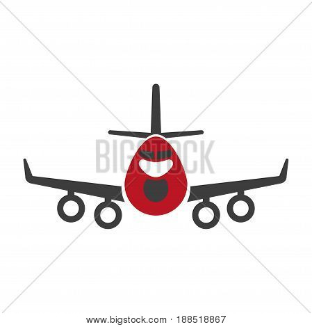 Avia or air transportation and logistics service company icon. Vector flat isolated symbol of passenger aircraft vehicle or plane cargo delivery or express shipment design element
