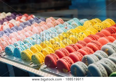 Colored Cookies French Macaroons Series, Variety.