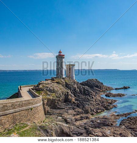 Petit Minou Lighthouse. Plougonvelin, Brittany, France, Europe