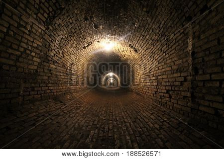A dark tunnel under Traverse City, MI.  Once part of the Traverse City Asylum