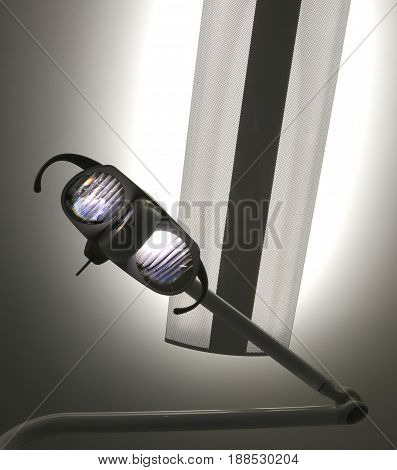 Lamp With Very Powerful Light In The Dental Clinic