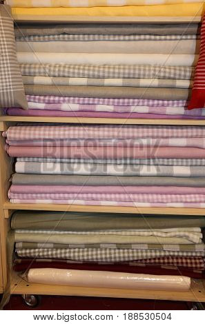 Textile Products For Sale On The Shelves