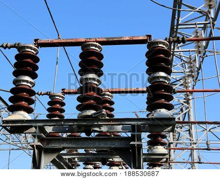 Disconnectors Of Electrical Lines Of High Voltage In The Power P