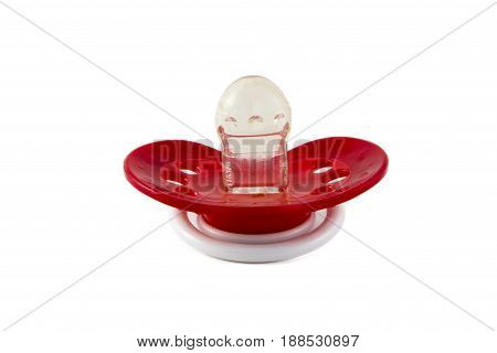 Baby Teat, Pacifier Isolated Photo.
