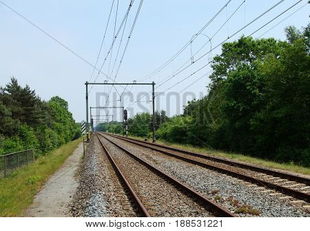 Dutch electrical Two way steel railroad track