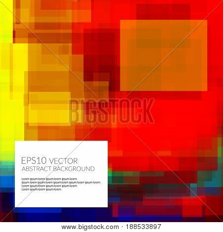 Abstract background with lots of bright geometric shapes. Space for text. Flashy colors.