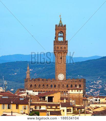 Palazzo Vecchio In Piazza Della Signoria. Florence, Italy