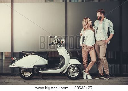 Couple With A Scooter
