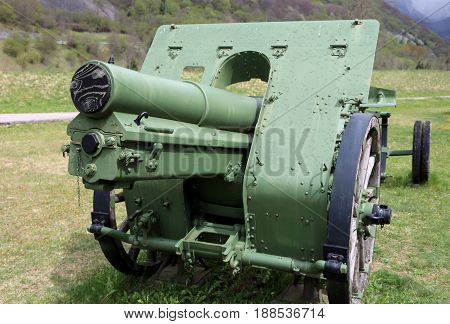 Ancient Italian Cannon Used In The First World War