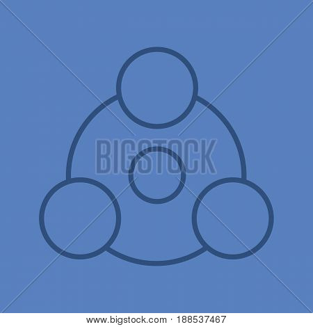 Sharing symbol color linear icon. Sharing abstract metaphor. Thin line contour symbols on color background. Vector illustration