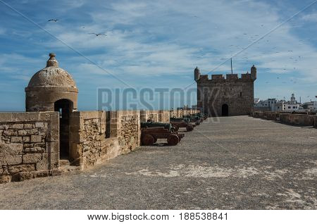 Sqala Du Port ( Northern Scala ), A Defensive Tower At The Fishing Port Of Essaouira, Morocco