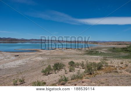 The Lake Formed By The El Mansour Eddahbi Barrage Near Ouarzazate, Morocco