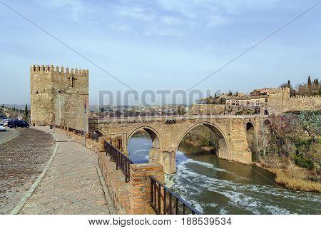 Puente de San Martin (St Martin's Bridge) is a medieval bridge across the river Tagus in Toledo Spain.