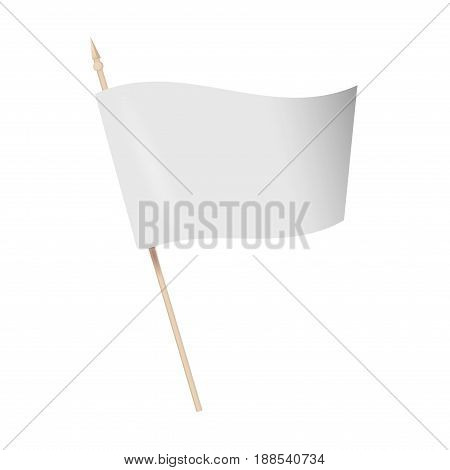 Vector illustration flag mock-up. vector flag isolated on transparent background. Advertising flag banner for advertising illustration.