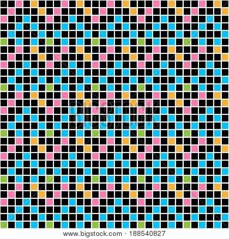 Mosaic vector patterned tile. Tile for design repair of apartments. Graphic square color.
