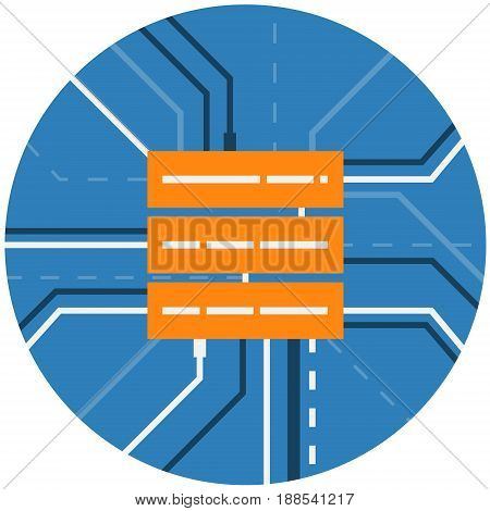 Data Server Storage Abstract Icon. Cloud Computing, Networking Technology. Computer Server Rack Conceptual illustration isolated vector. Transparent.