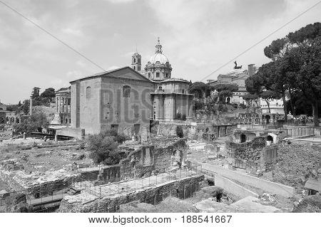Ancient architecture of ancient Rome. Ancient Roman forum