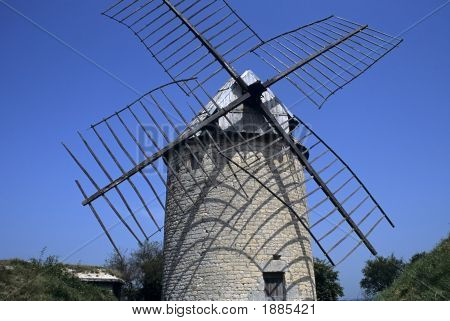 windmill castelnau montratier lot midi pyrenees france poster