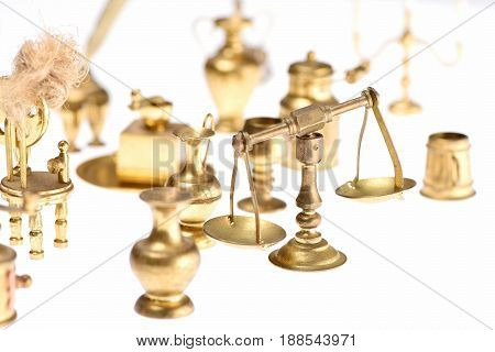 Scales Of Justice Isolated On White