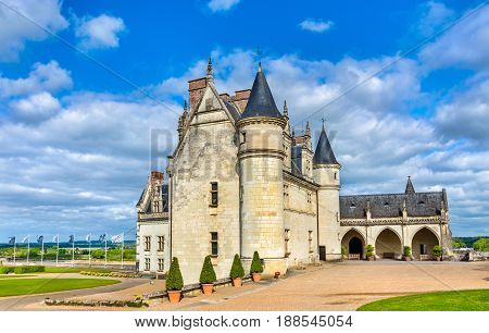 Chateau d'Amboise, one of the castles in the Loire Valley - France, Indre-et-Loire department