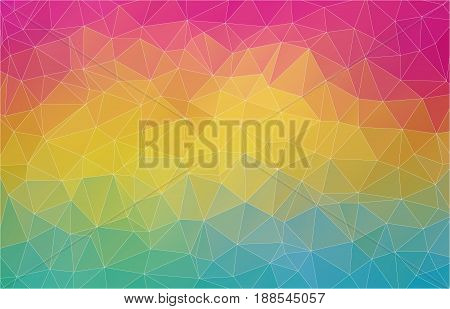 Flat 2D bright multicolor abstract triangle shape background for your design