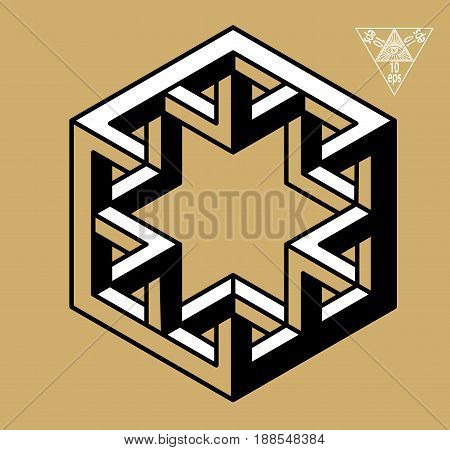 Impossible Geometry Symbols Vector