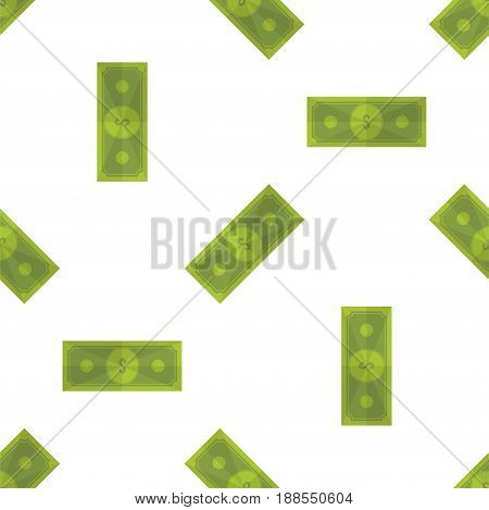 Seamless pattern, set dollars on a white background. Flat vector illustration EPS 10.