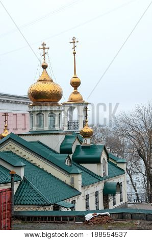 Russia, Vladivostok, April 8: Church Of Assumption  Blessed Virgin Mary