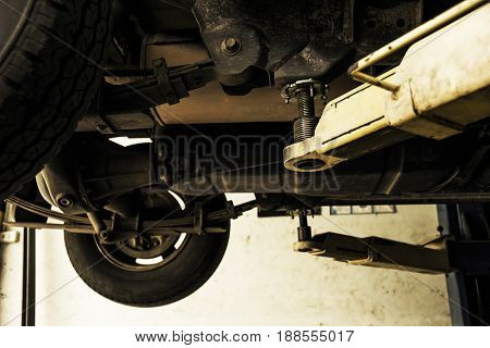Car fixing tie rod and steering system while being under the vehicle.