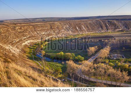 Turistic complex Orheiul Vechi in Moldova near village Trebujeni