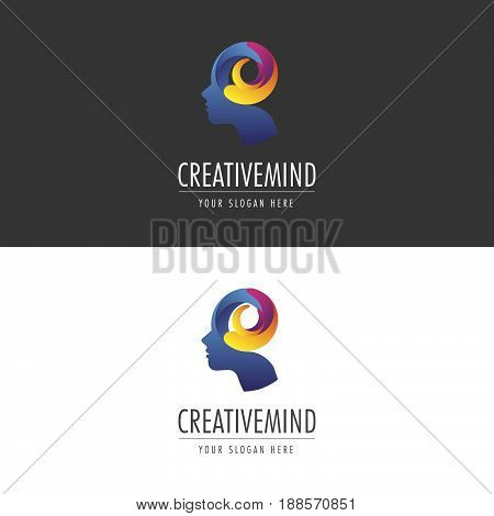 Creative Mind Logo. Logo template for your business