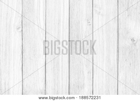 Abstract Surface White Wood Table Texture Background. Close Up Of Dark Rustic Wall Made Of White Woo