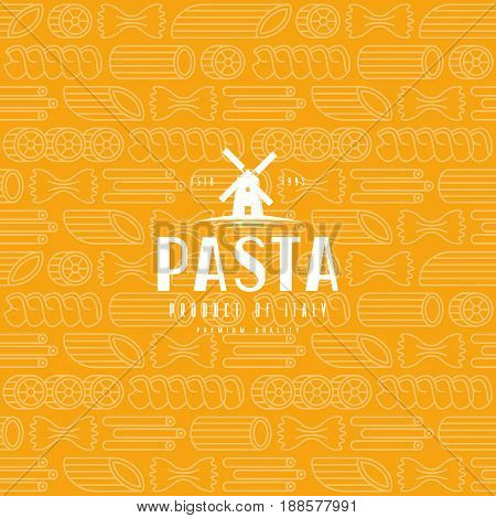 Seamless Pattern With Varieties Of Pasta