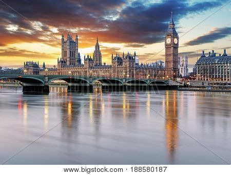 London - Big ben and houses of parliament UK