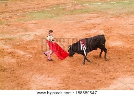 Michelito Is The Youngest Torero In The World
