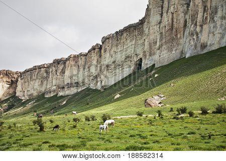Mount Ak-kaya. White Rock In Crimea.