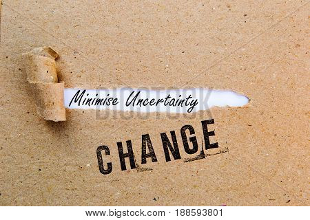 Change - Minimize Uncertainty - successful strategies for change