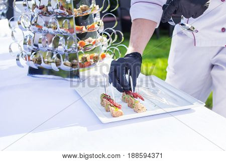 Outside of the food catering for guests of the event