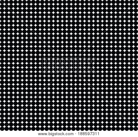 Black and white Texture of small circles, Grid of round figures
