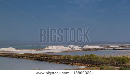 Salt Lake Afrera aka Lake Afdera or Giulietti or Egogi at Danakil Afar Ethiopia