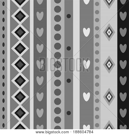 Black white seamless stripes pattern. Abstract vector background.