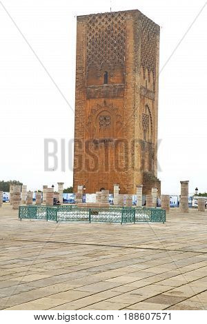 The   Chellah  In Morocco Africa       Old Roman Deteriorated Monument And Site
